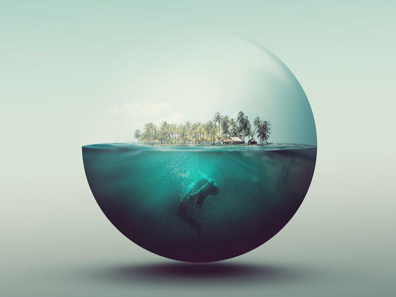 Dribbble - water world by Joe Cavazos