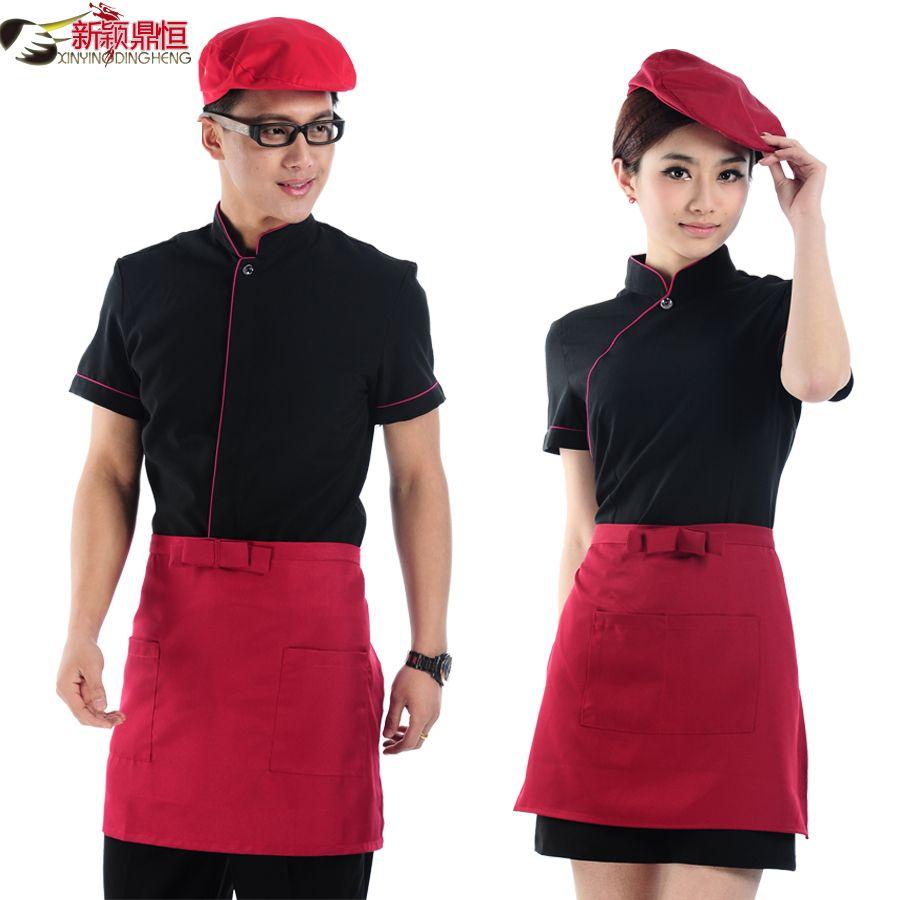 Hotel waitress uniforms overalls summer clothing summer for Restaurant uniform shirts wholesale