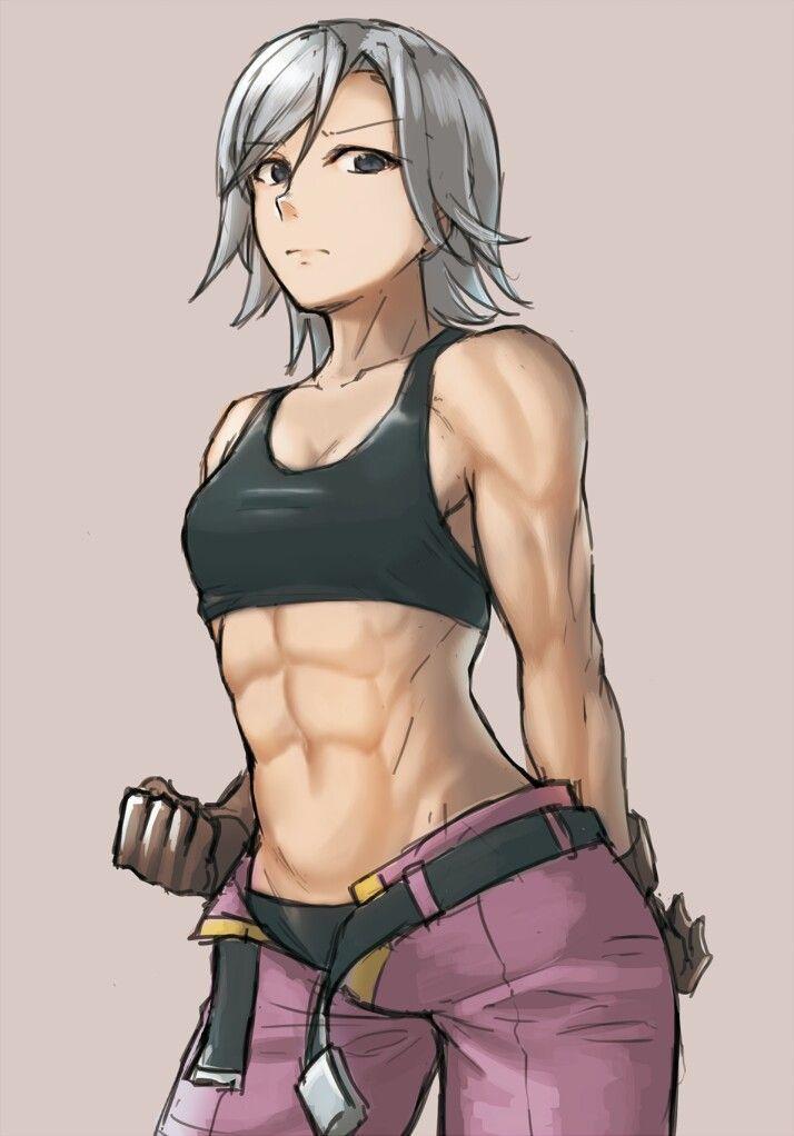 Anime Female Abs : anime, female, Anime, Female, Drawing,, Muscular, Women