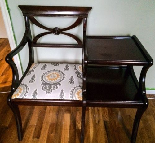 Vintage Mid Century Accent Chair Telephone Table Quot Gossip
