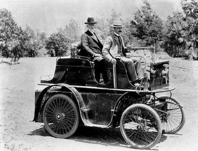 Первый автомобиль в Лос-Анджелесе, США, 1897 год. | Первый ...