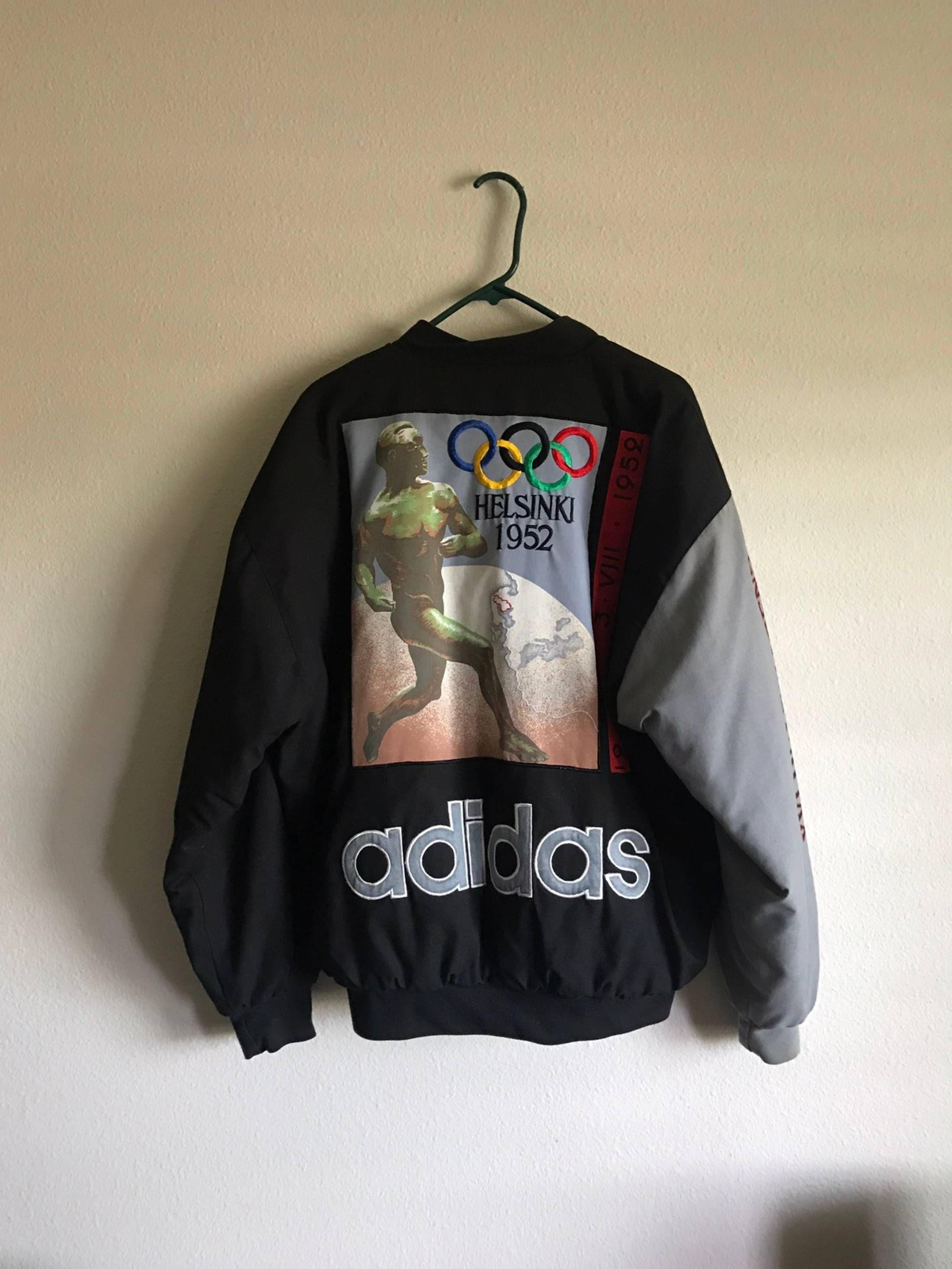 62f2ab74dbbc Adidas Vintage 1952 Helsinki Olympics Jacket Size US L   EU 52-54 ...