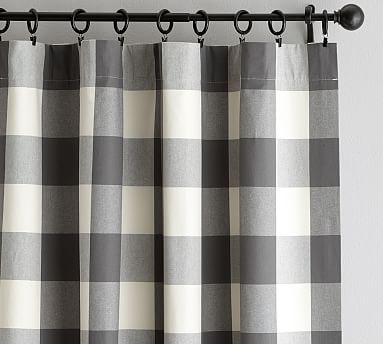 Buffalo Check Curtain Gray Check Curtains Buffalo Check
