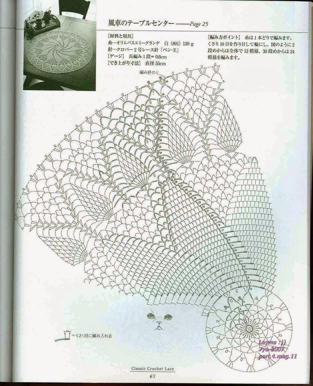 PATRONES GRATIS DE CROCHET: Patrón de un precioso y elegante centro ...
