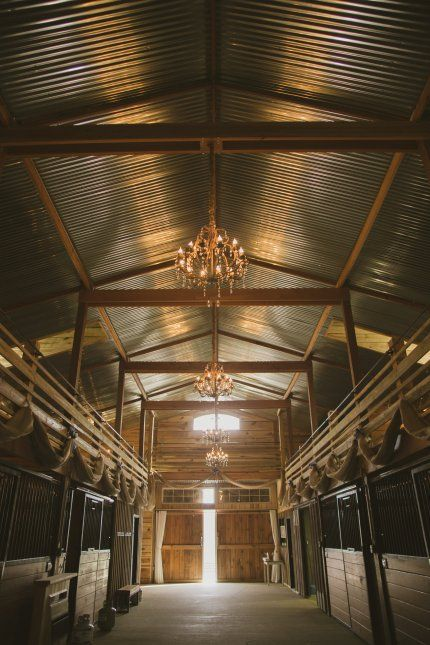 Horse Stables with Chandeliers - Tips and Inspiration for Practical and Not So Practical Lighting for Barns and Equestrian Event Venues - Hawk Hill #eventingbarn