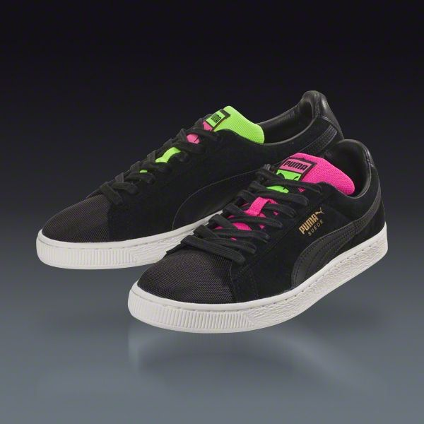 Buy PUMA Suede Classic Tricks - Pink Glo-Safety Yellow- Black Leisure  Soccer Shoes