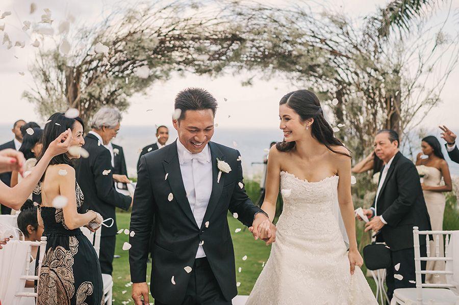 Judd and Sonya's Classic White Bali Wedding