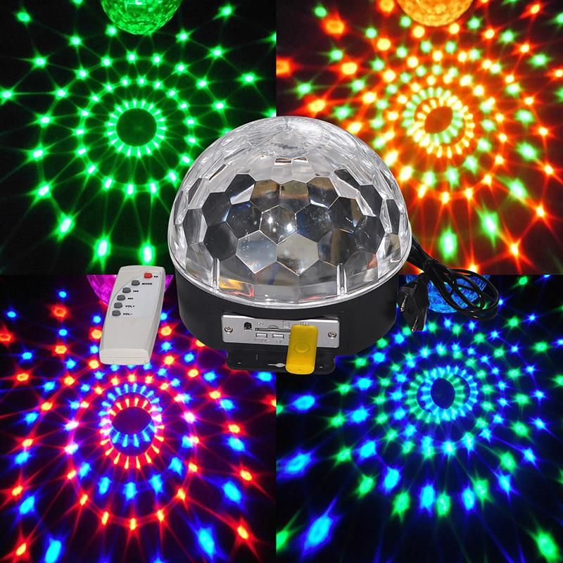 Disco Dj Stage Lighting Digital Led Rgb Crystal Magic Ball Effect Light For Xmas Party And New Year Party With Images Crystal Magic Ball Magic Ball Light Led Stage Lights