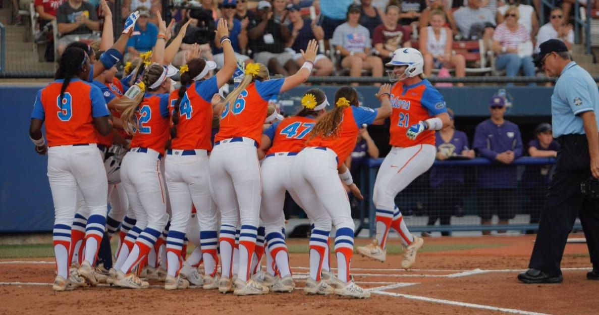 The topseeded Florida softball team is now two wins away