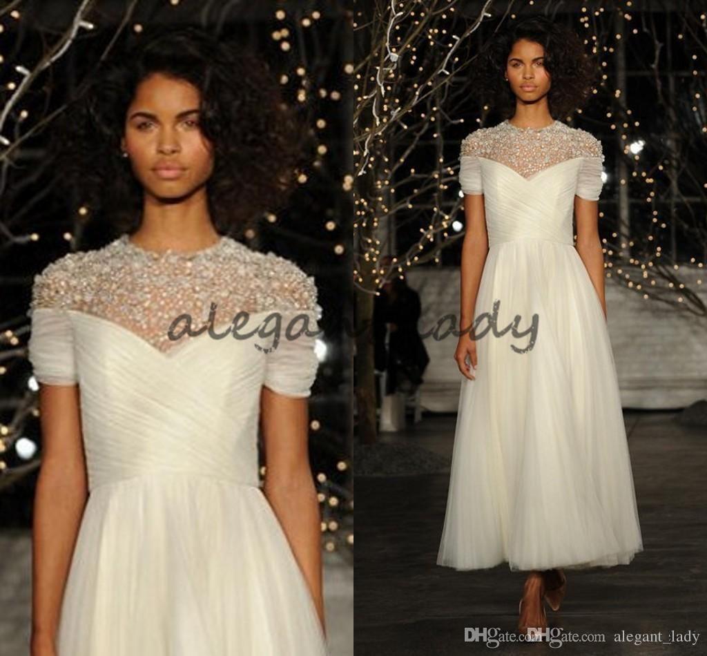 Vintage great gatsby tealength wedding dresses modest jenny
