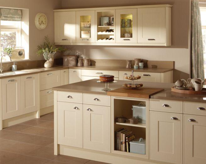 Photo Of Shaker Cream Taupe Premier Kitchens Kitchen With Granite