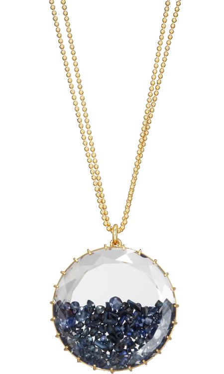 Renee lewis blue sapphire shake large pendant necklace precious renee lewis blue sapphire shake large pendant necklace aloadofball Image collections