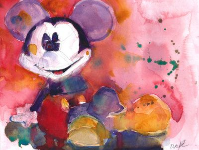 Mickey Mouse Blues by Dorrie Rifkin Watercolors