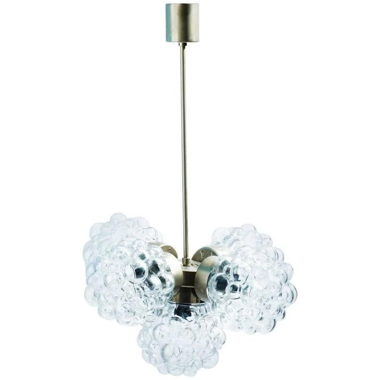 Bubble Glass Chandelier by Helena Tynell | Glas