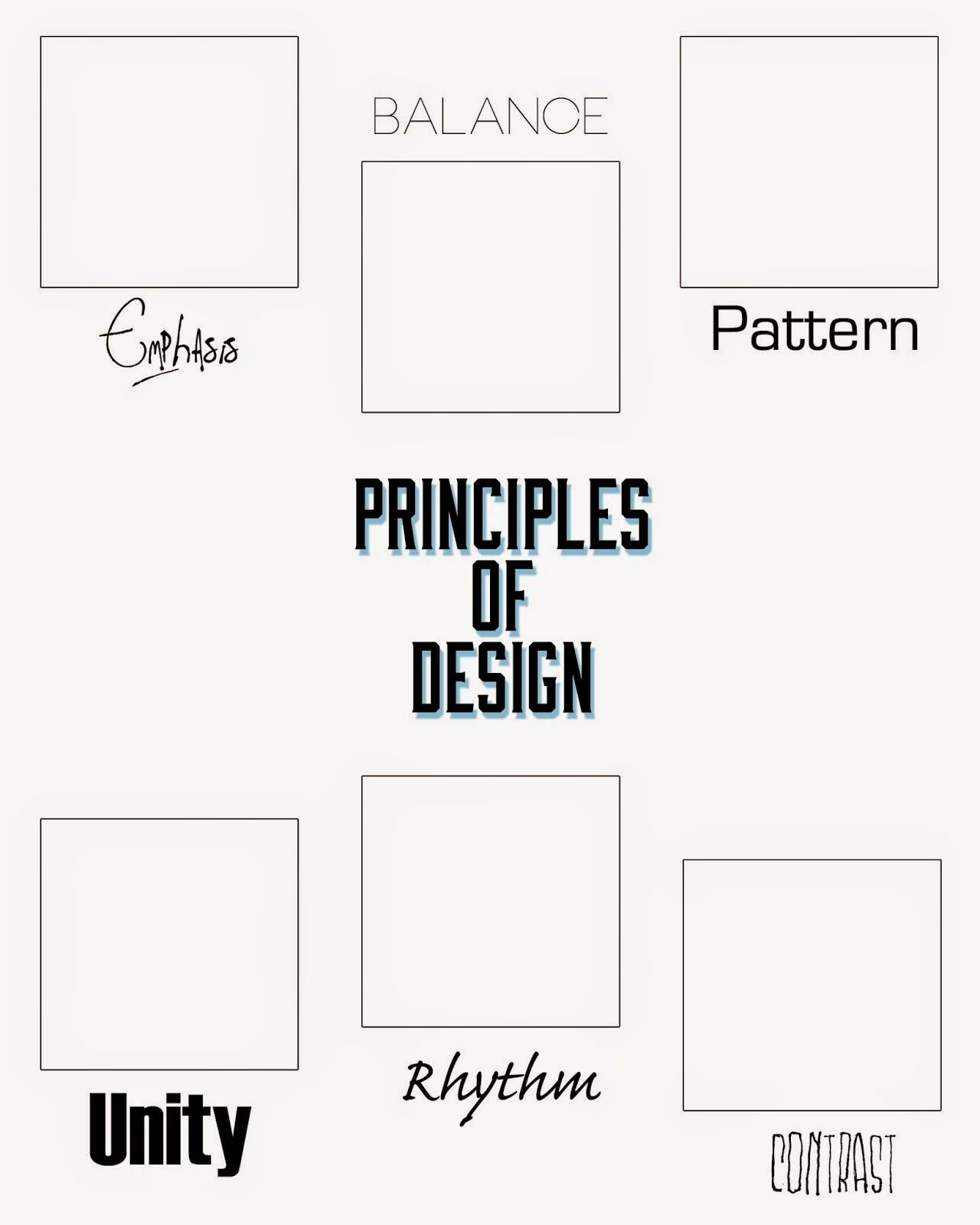 elements of design worksheet wiildcreative. Black Bedroom Furniture Sets. Home Design Ideas
