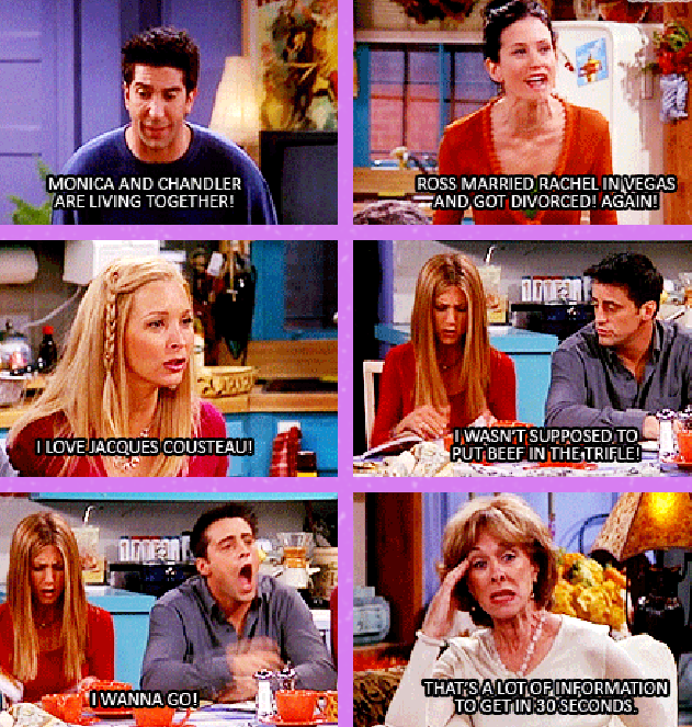 Monica And Chandler Are Living Together! Ross Married