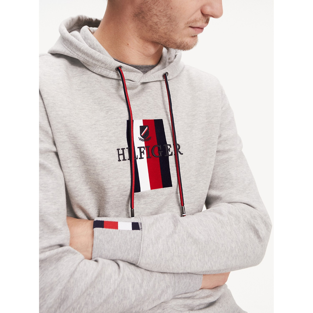 Embroidered Logo Hoodie Tommy Hilfiger Mens Sweatshirts Hoodie Tommy Hilfiger Sweatshirt Mens Hoodie Outfit Men [ 1000 x 1000 Pixel ]