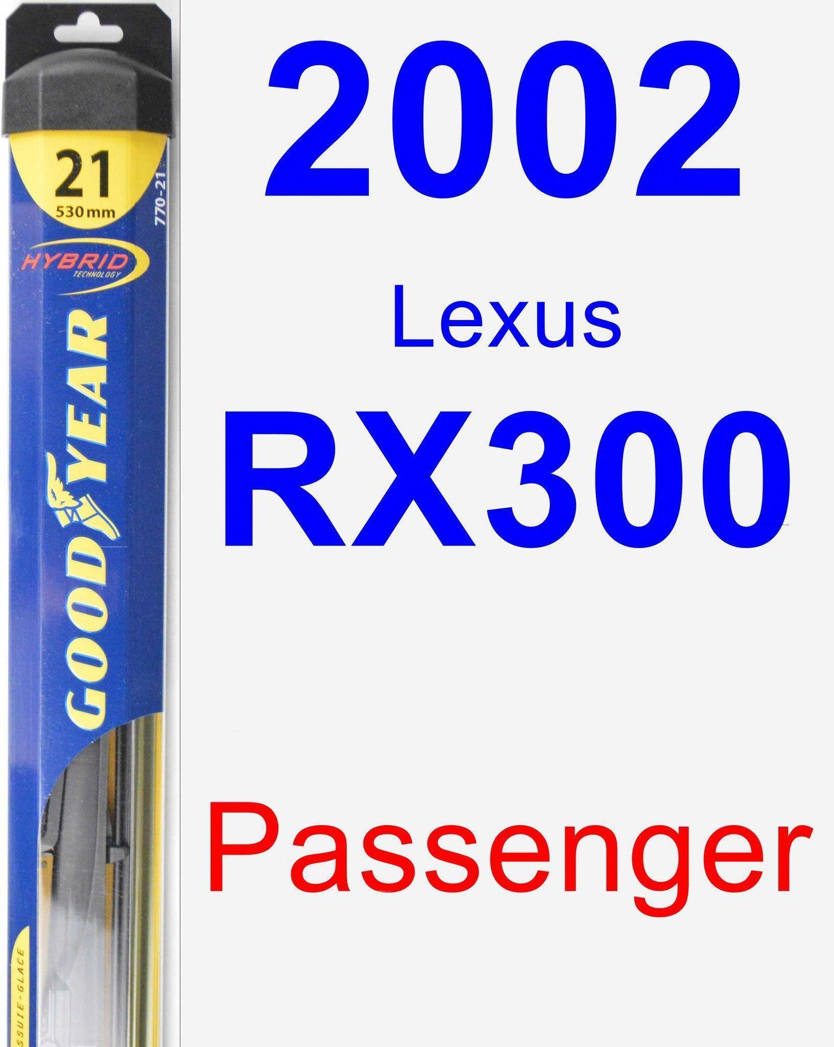 Passenger Wiper Blade for 2002 Lexus RX300 Hybrid