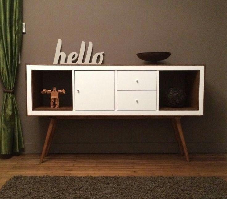 ikea with legs midcentury un meuble styl annes 50 avec kallax - Meuble Tv Vintage Ikea