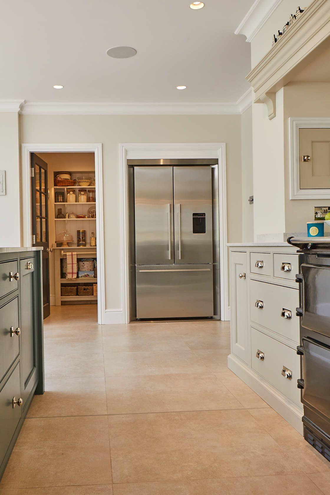 Fisher Paykel Stainless Steel Fridge Freezer In 2020 Bespoke Kitchens Elegant Kitchen Design Open Plan Kitchen Living Room