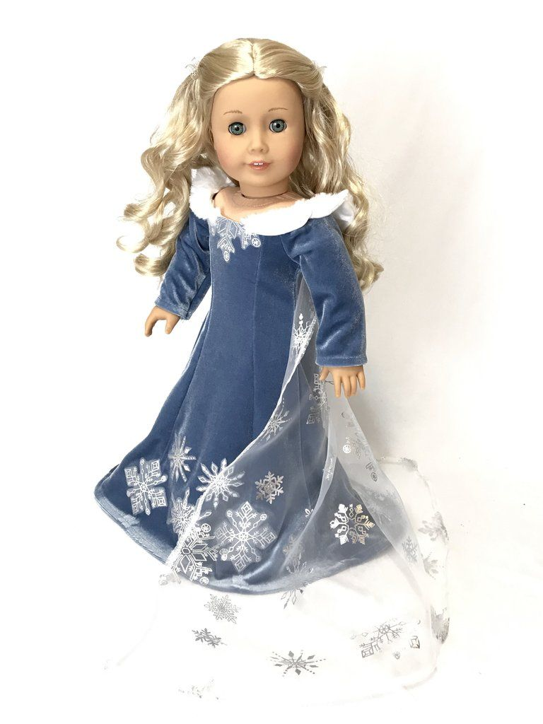 """Fits American Girl and Our Generation Dolls. Snow White Dress For 18"""" Doll"""
