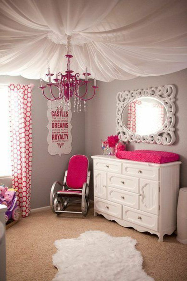 modernes kinderzimmer deckenlampe gardinen kronleuchter | Ideen ...