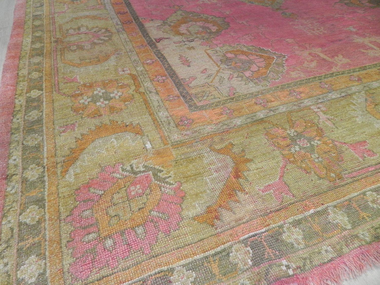 Amazing Antique Pink Oushak 10 X 12