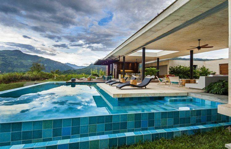 Terrasse piscine moderne 99 idées aménagement et déco - photo d amenagement piscine