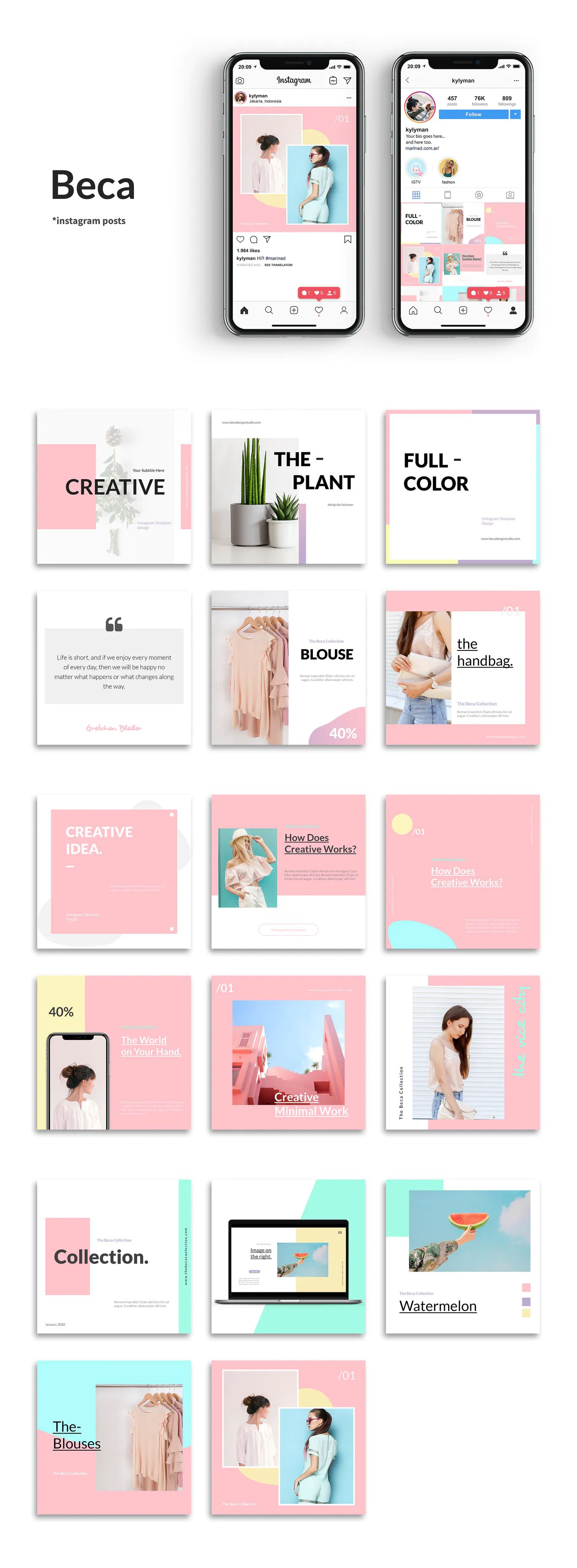 Download Instagram Grid Mockup Psd Yellowimages