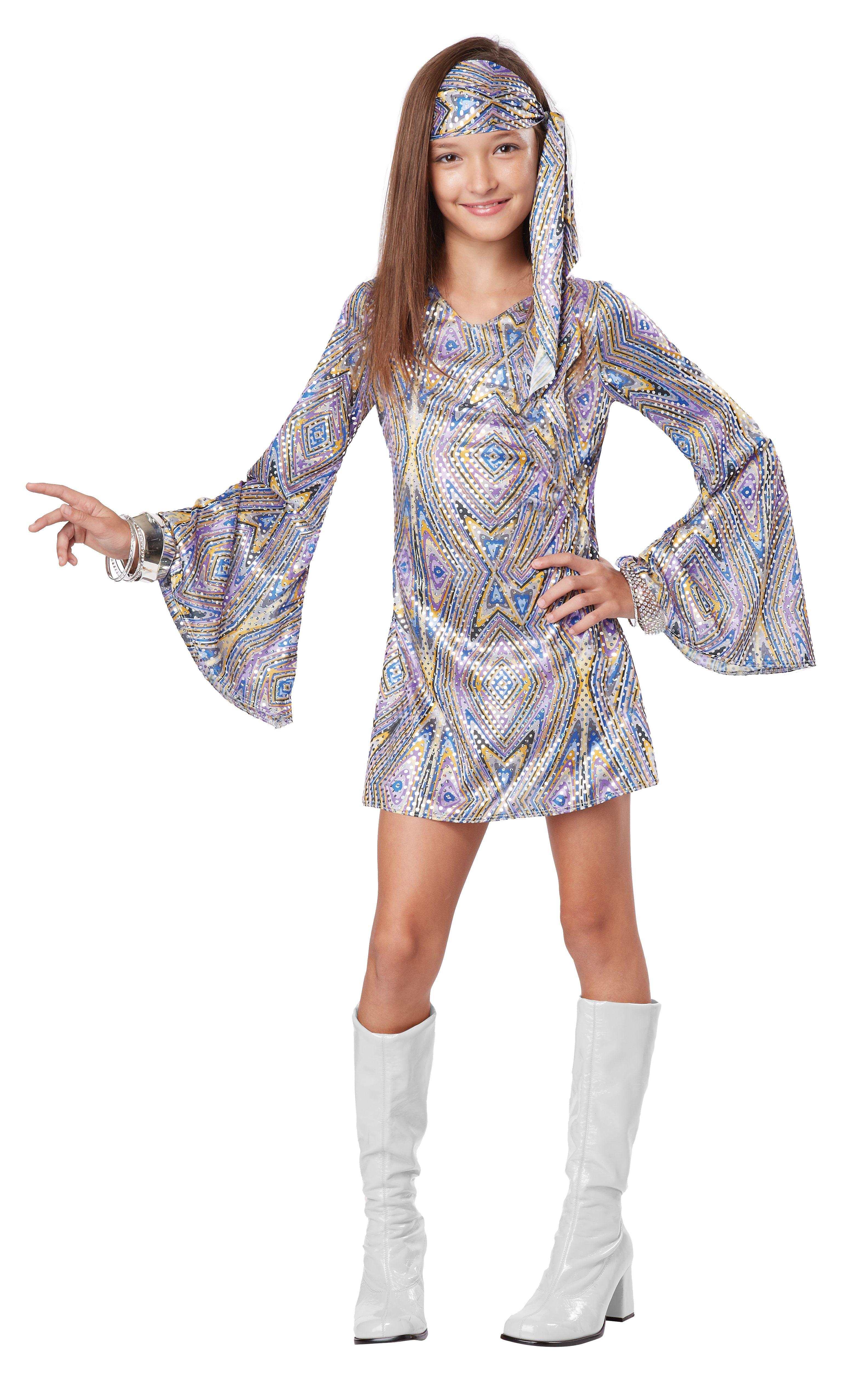 60s/70s Disco Darling Kids Go-Go Costume | Discos ...