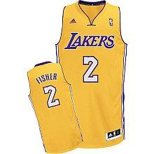 d2cf55d55a1 Derek Fisher Los Angeles Lakers Swingman Jersey