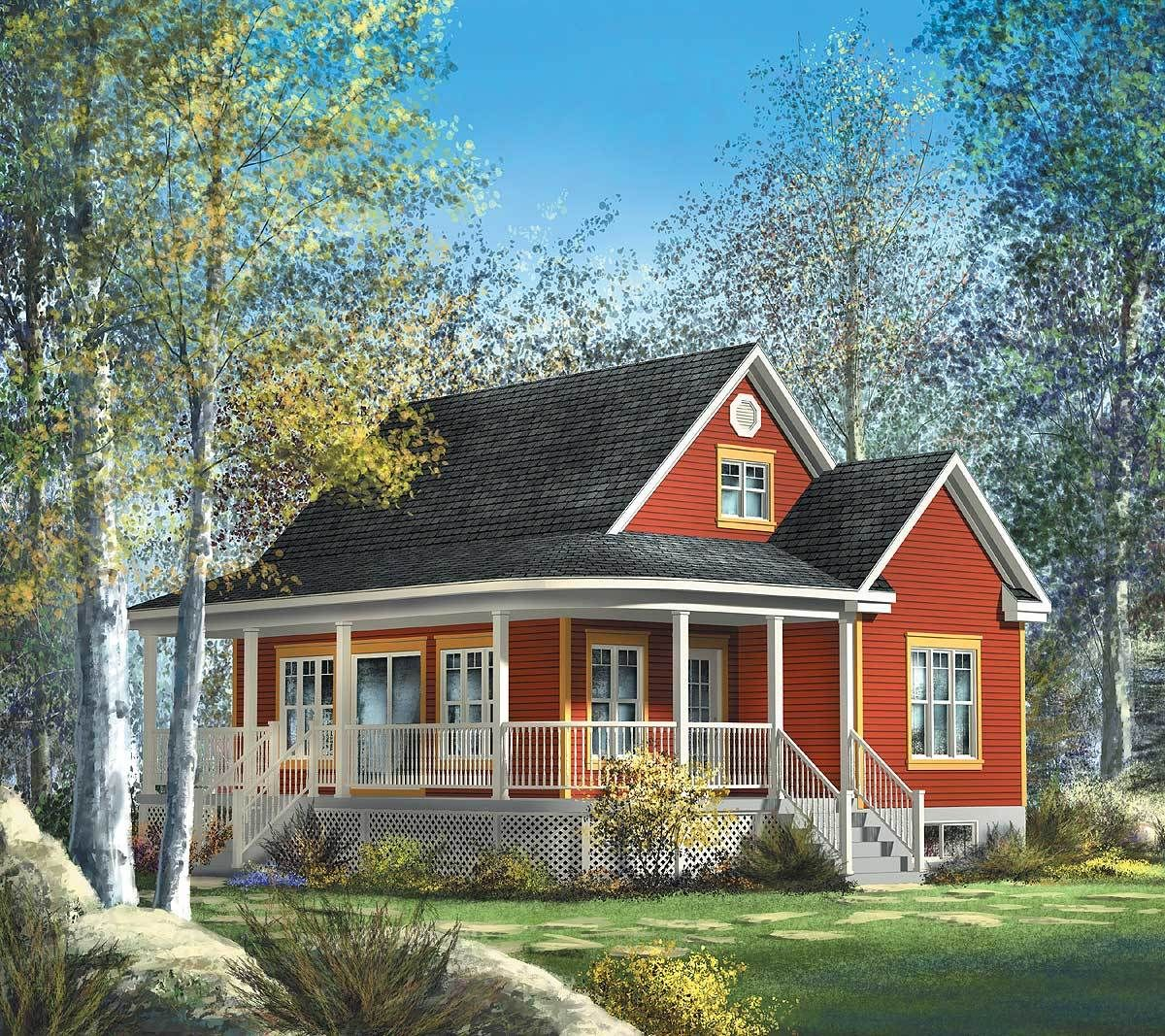 Plan 80559pm Cute Country Cottage Country Cottage House Plans Cottage House Plans Cottage Plan