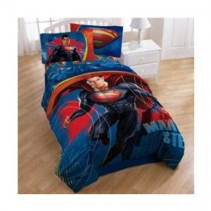 Superman Bedding Set Comforter Superman Bedroom Decor Superman