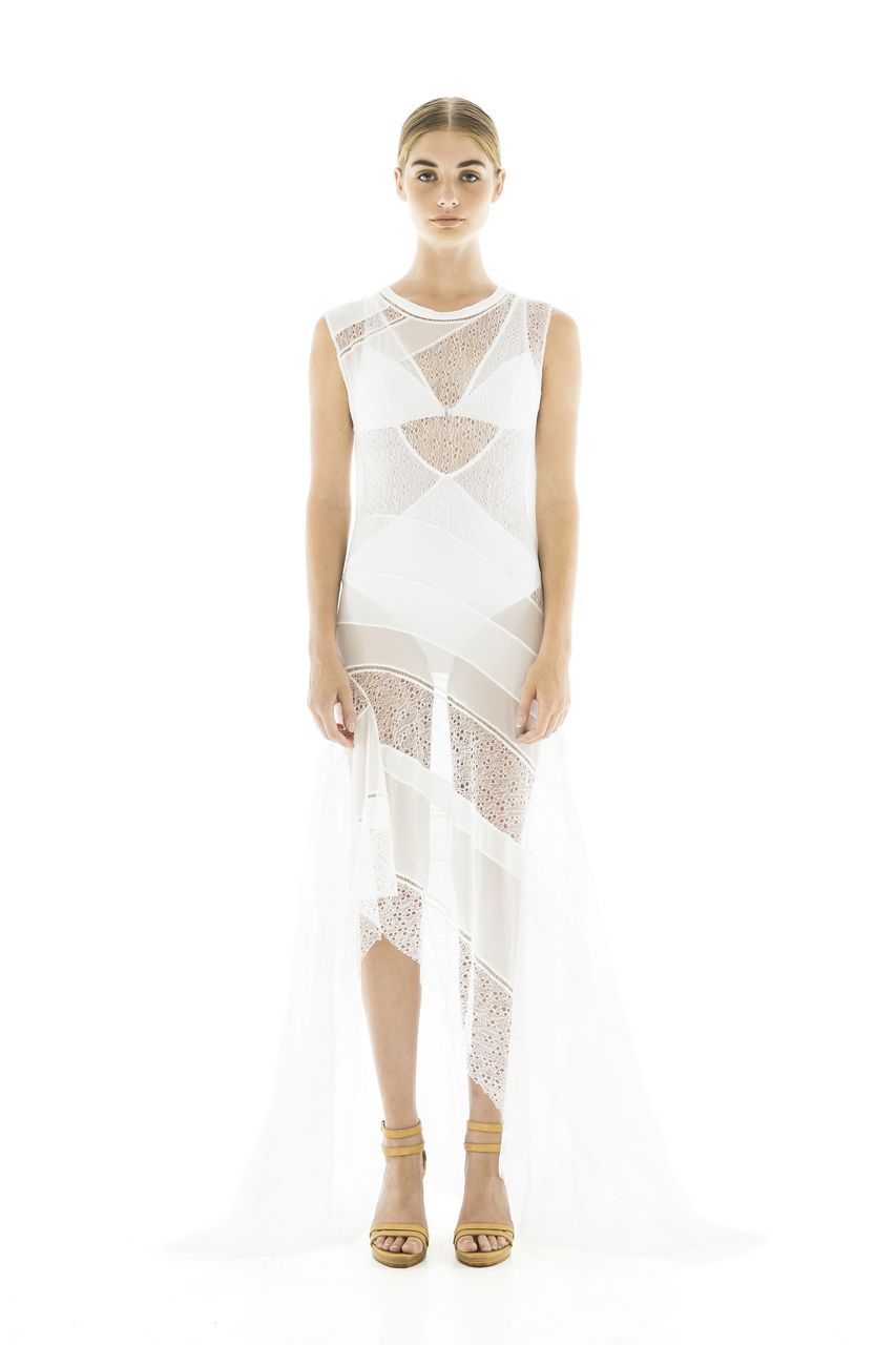 03b744cd75397 Magali Pascal - Last Song Couture Dress -Off White