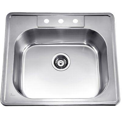 Dawn Usa Topmount Bowl Stainless Steel 25 X 22 Drop In Kitchen
