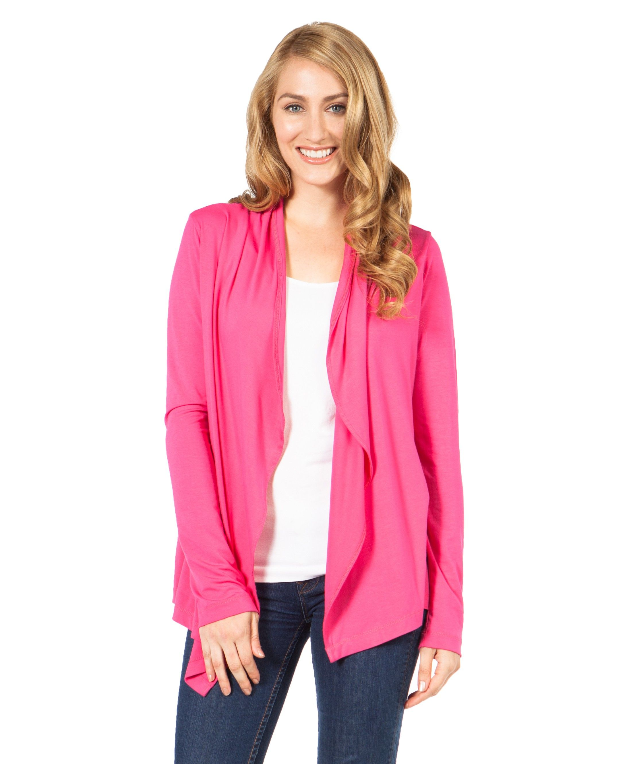 Open Cardigan - Hot Pink
