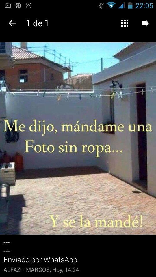 8ed4cc0c2a55 Le había pedido una foto sin ropa!!! #humor | Mafalda _ Chistes ...