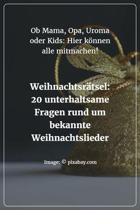 Bekannte Weihnachtslieder Kinder.Weihnachtsrätsel Bekannte Weihnachtslieder Für Kinder