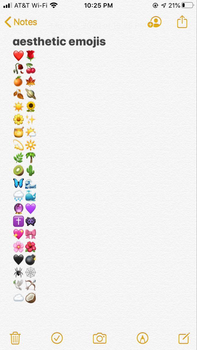 Aesthetic Emojis In 2020 Instagram Emoji Emoji For Instagram Emoji Combinations