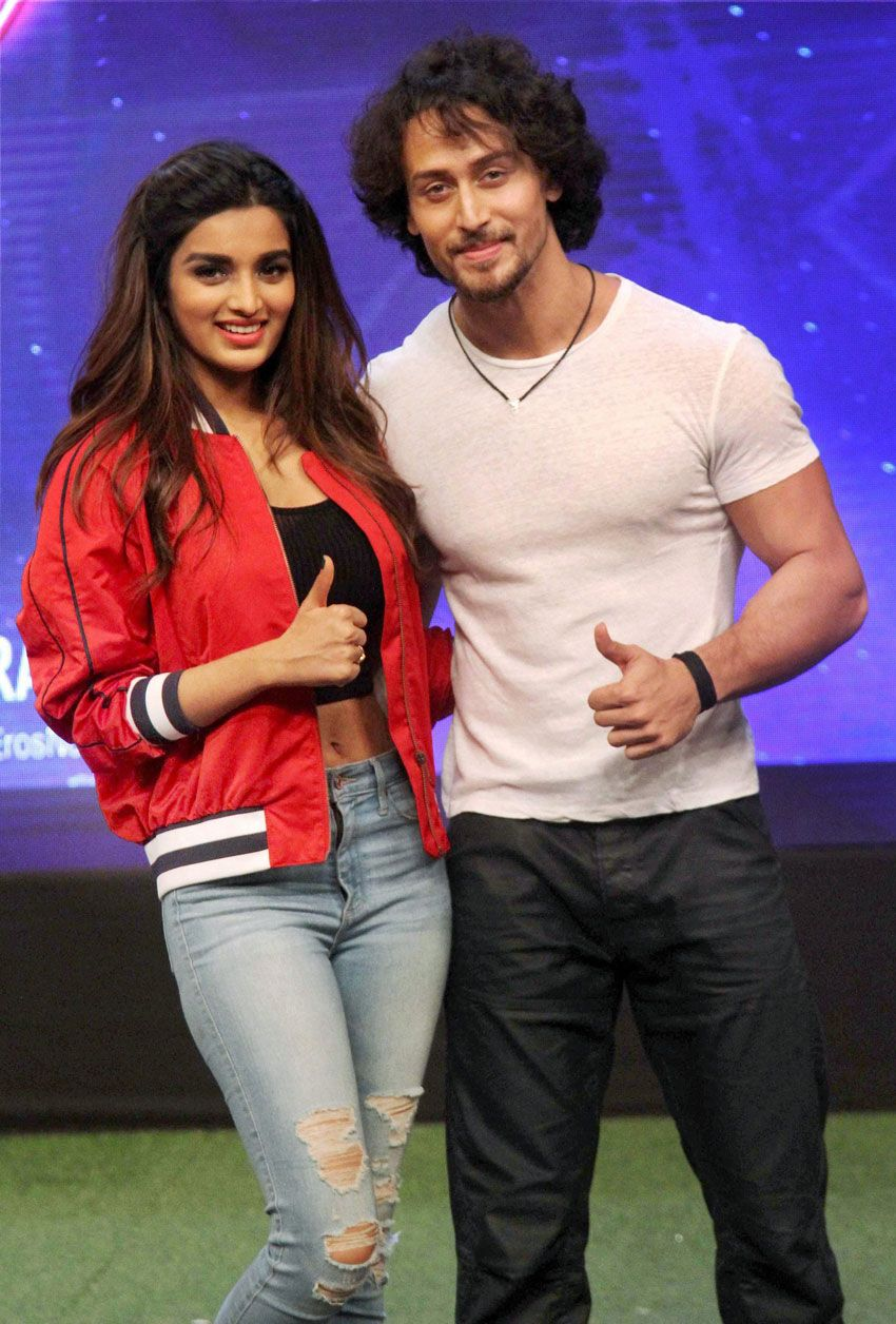 Nidhi Agarwal with Tiger Shroff Hottest female