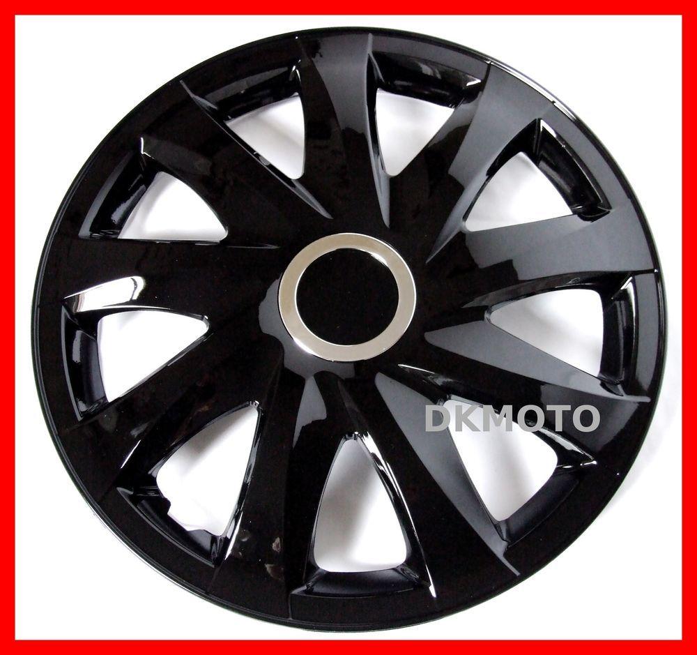 14 Hub Caps 4x14 Wheel Trims For Honda City Civic Jazz Black