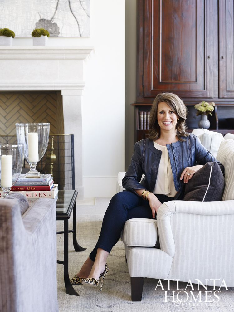 Living Room Design Planner Mesmerizing Designer Lauren Deloach In Her Clients' Living Room At The Design Decoration