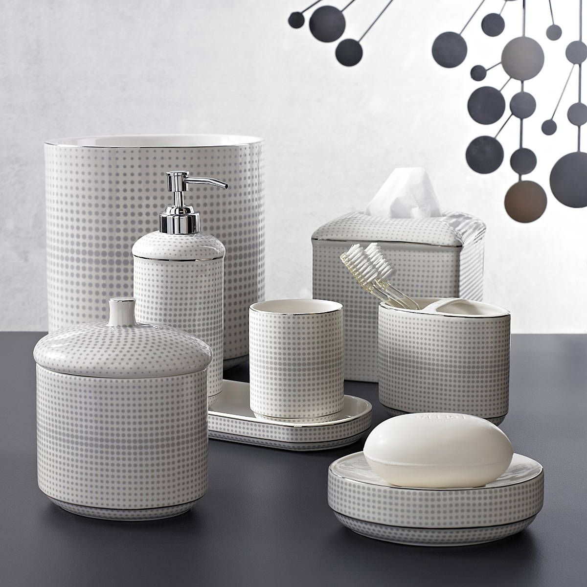 Shop for bathroom accessories - Crillon By Kassatex Shop Porcelain Bath Accessories Kassatex