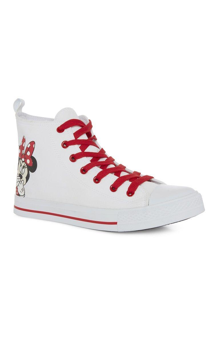 "Primark - Weiße ""Minnie Mouse"" High-Top-Sneaker"