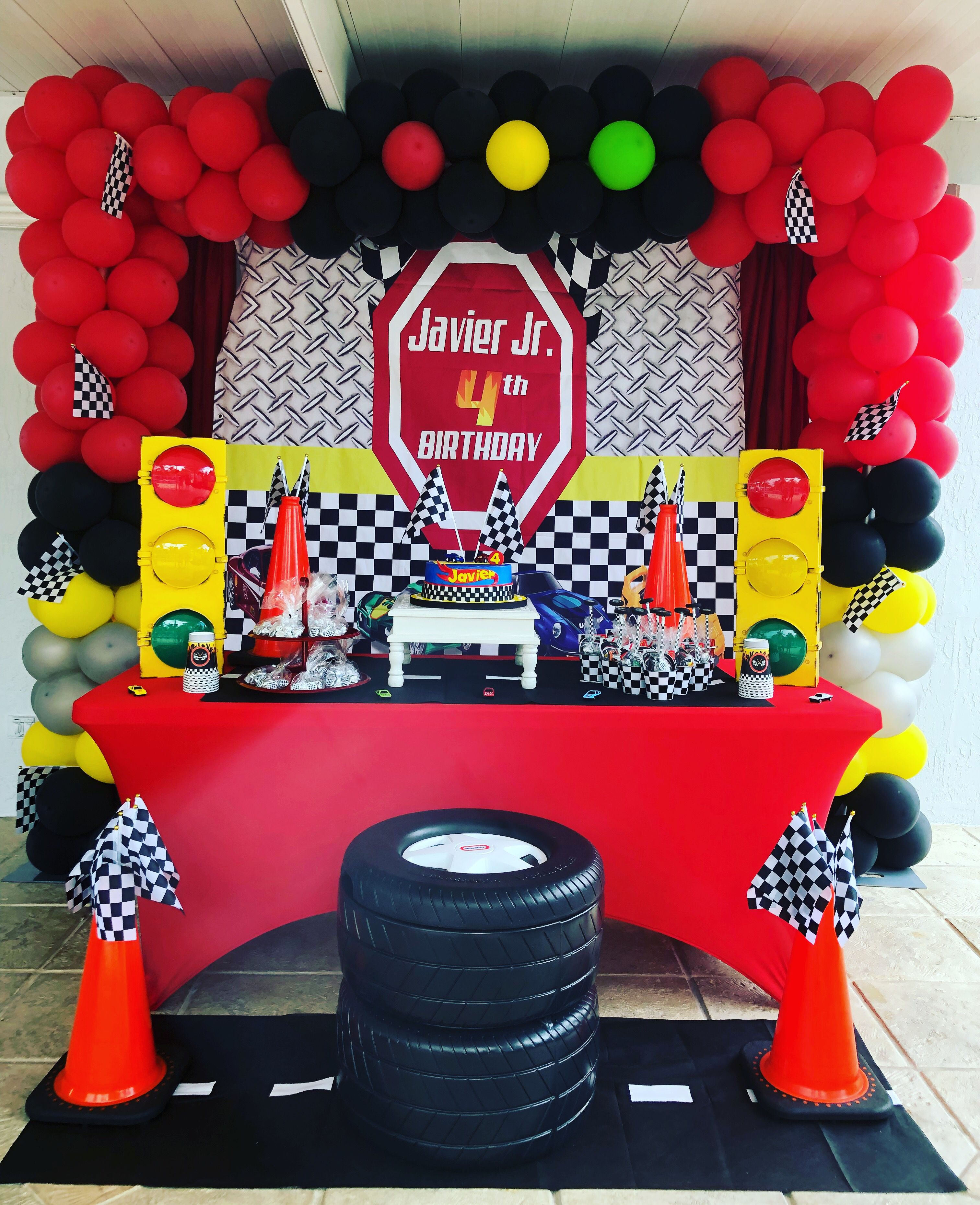 Race Car Theme Party Decoration Lightning Mcqueen Birthday Decorations Baby Shower