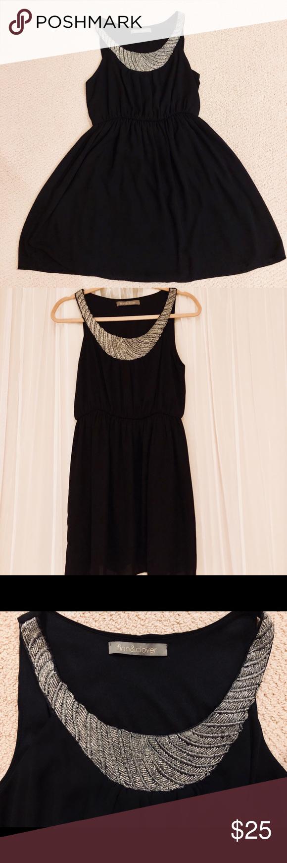 Finn & clover black dress with detailed neckline   Dresses ...