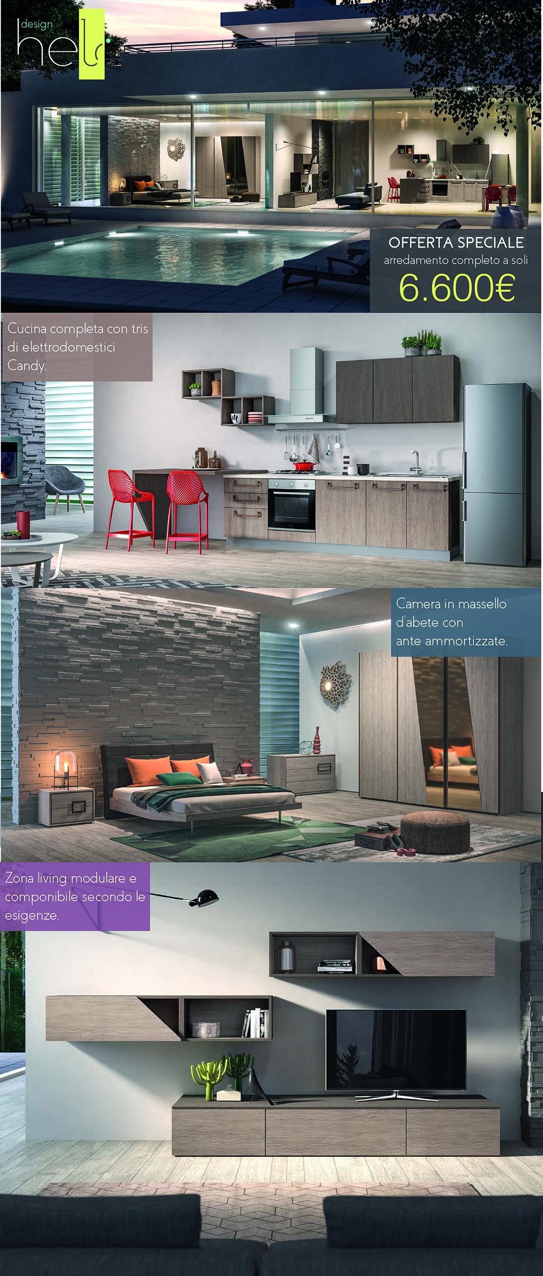 Offerta speciale Arredo cucina, camera matrimoniale e zona living a ...