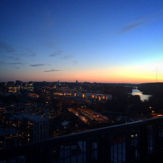 Sunrise Watching The Sun Come Up From The Top Of Park Inn By Radisson Stockholm Hammarby Sjostad Take The Trip To See It For Hotel Stockholm Stockholm Hotel