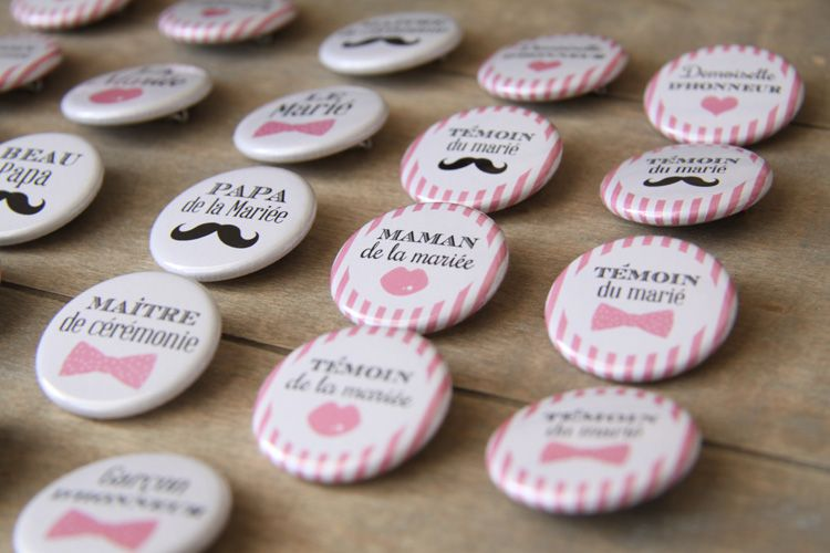 Top Badge mariage famille et temoins | Mariage | Pinterest | Badges  RU02