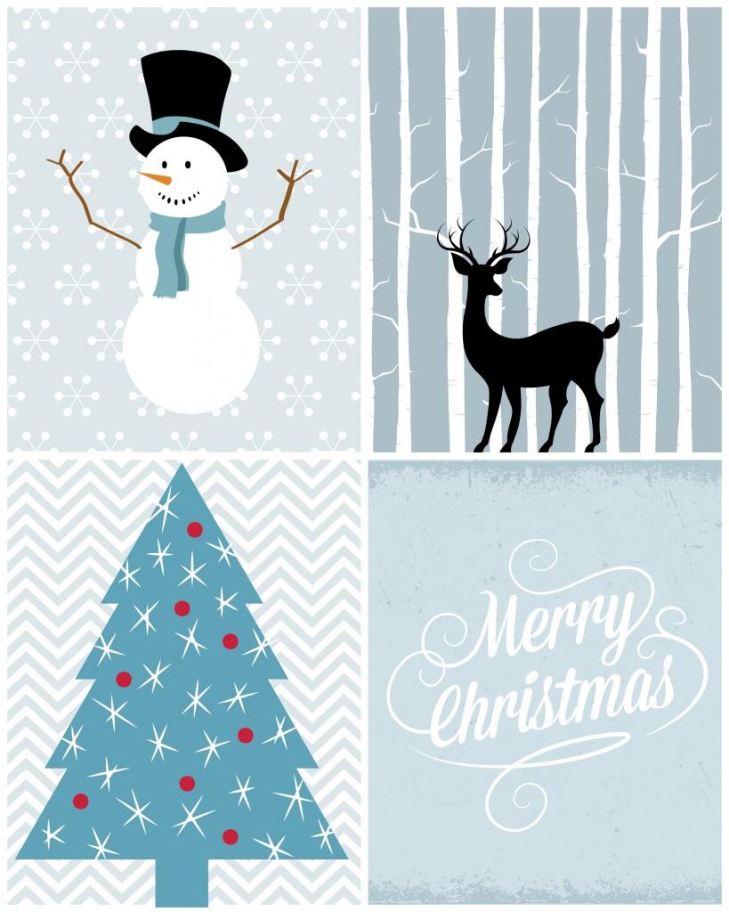 Christmas Printables in Blue | Navidad, Imprimibles y Etiquetas